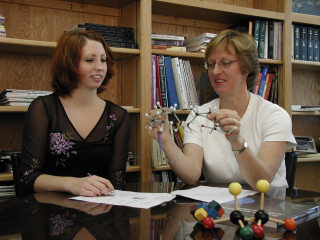 Dr. Fetrow and student, Anne Jeffers