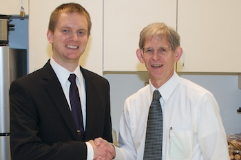 Dr. Ryan Best with Prof Bourland