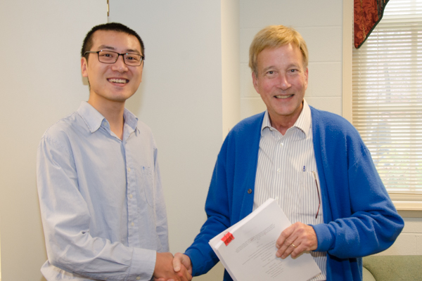 Dr. Xinfu Lu with Prof Williams