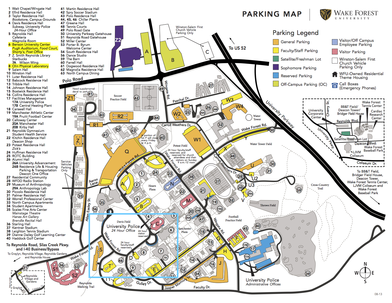 Wake Forest Campus Map Local | NCS AAPT Spring Meeting 2015